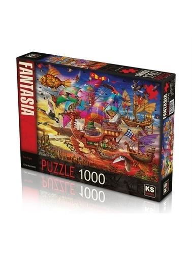 KS Puzzle KS Puzzle 20571 The Flight Temalı 1000 ParÇa Puzzle Renkli